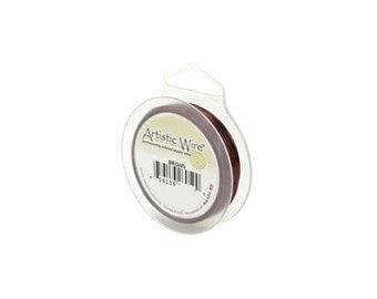 Artistic Wire 24 Gauge Brown 41360 Brown Round Wire, Jewelry Wire, Craft Wire, Copper Wire, Wire Wrapping, 24ga Soft Temper Wire