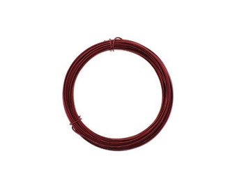 Anodized Aluminum Wire 12 Gauge Ox Blood Red 41970 , Jewelry Wire, Craft Wire, Round Wire, Aluminium Wire, Soft Temper Wire, Anodized Wire