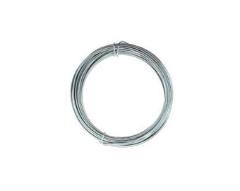 Anodized Aluminum Wire 12 Gauge Gray 41967 , Jewelry Wire, Craft Wire, Round Wire, Aluminium Wire, Soft Temper Wire, Gray Anodized Wire