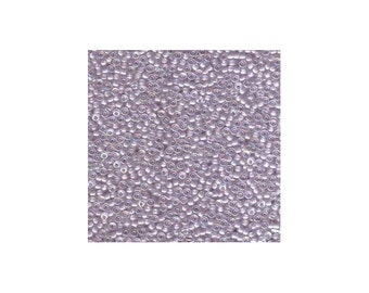 Miyuki Seed Beads 11/0 Lavender Lined Crystal AB 11-2211 24g Tube Glass Size 11 Color Lined