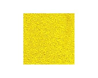 Miyuki Seed Beads 11/0 Opaque Yellow 11-404 24g Tube Glass Size 11