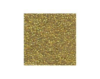 Miyuki Seed Beads 8/0 Silver-Lined Yellow AB 8-1006 22g Tube, Glass Seed Beads Size 8