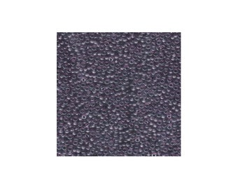 Miyuki Seed Beads 8/0 Transparent Lavender 8-157 Glass Seed Beads Size 8, 22g Tube, Purple Seed Beads