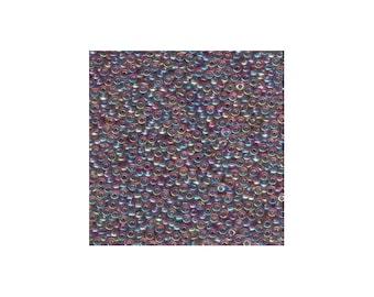 Miyuki Seed Beads 11/0 Transparent Amethyst AB 11-256 24g Japanese Seed Beads, Purple Seed Beads, Glass Seed Beads, Rocaille Seed Beads