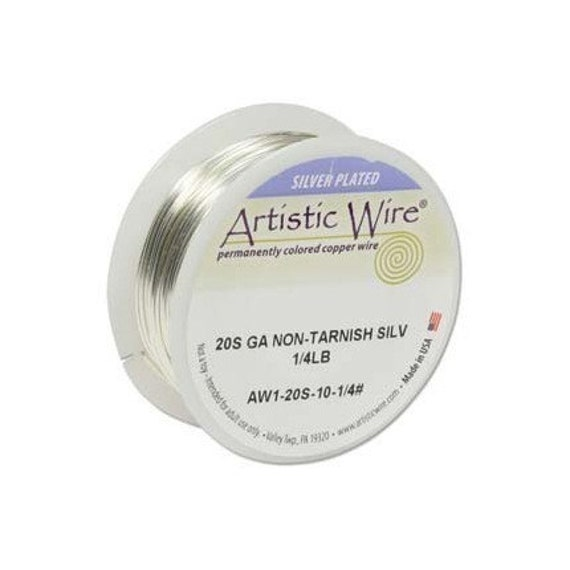 Artistic Wire 20 Gauge Tarnish Resistant Silver 1/4lb 41497 , Round Silver Wire, Jewelry Wire, Craft Wire, Silver Plated Wire, Wire Wrapping