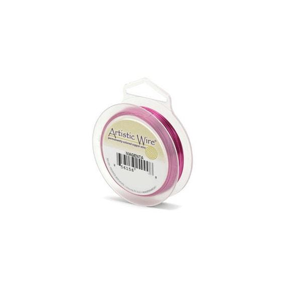 Artistic Wire 18 gauge Magenta 41925 Pink Round Wire, Jewelry Wire, Pink Craft Wire, Copper Wire, Wire Wrapping, 18ga Soft Temper Wire