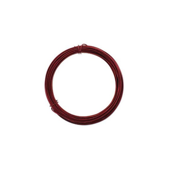 Anodized Aluminum Wire 12 Gauge Ox Blood Red 41970 Jewelry