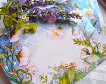 Set of 5 Mixed Fairy Cards (Sleeping Fairy Cards)  a favorite