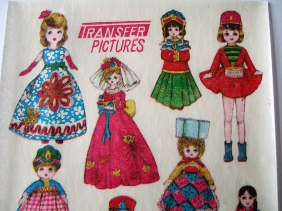 Vintage Dolly Transfers - Japanese style