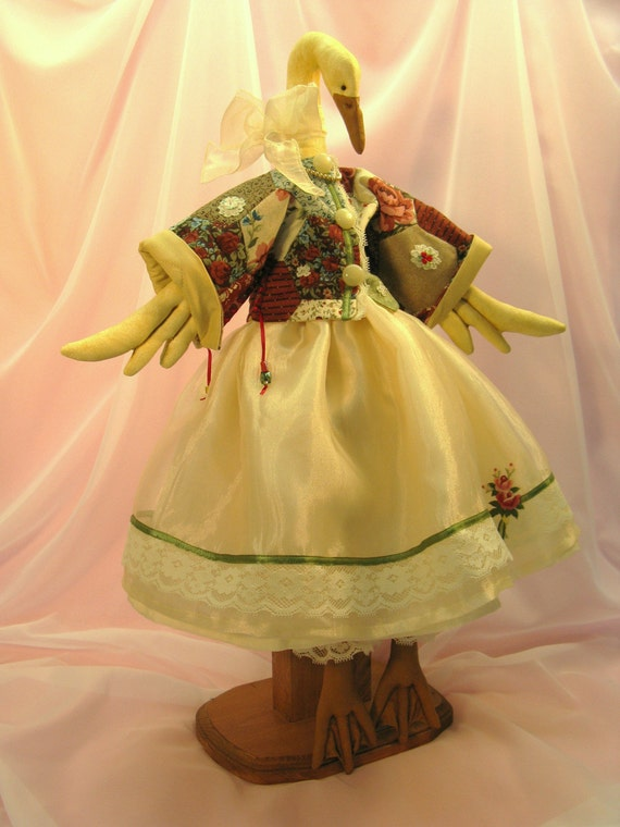 Beautiful Handcrafted Victorian Goose Collectible Doll