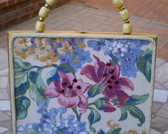 FLORAL Tiger Lily Cigar Box Purse