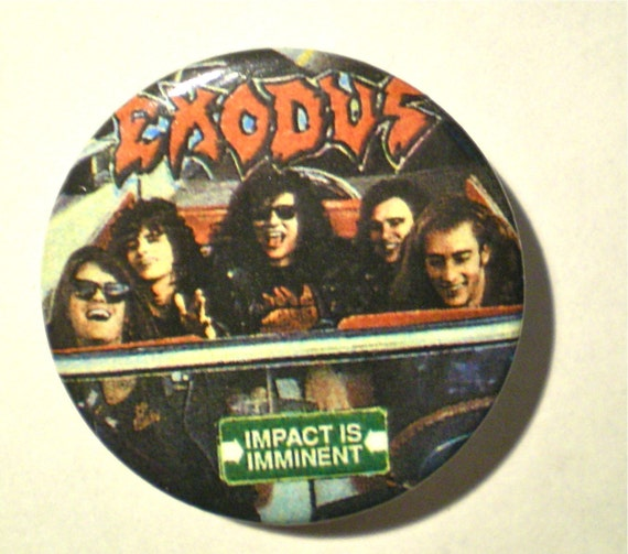 Vintage 80's EXODUS HEAVY METAL Band Fan Pin