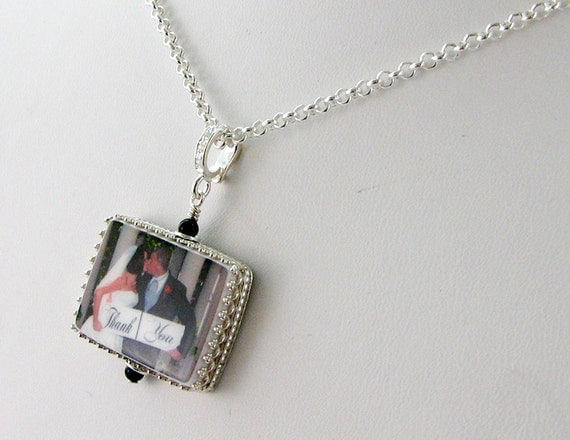 Photo Pendant Framed in Sterling - Medium - FP2CfN