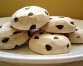 Half Dozen Chocolate chip cookies wooden play food