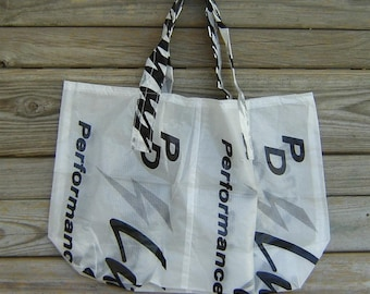Reusable Parachute Bag 143 Lightning Logo Nylon Ripstop Market Tote