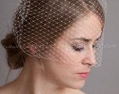 "Birdcage Veil 12"" Blusher Veil, Bridal Veil, Wedding Veil, White, Diamond White, Ivory, Black"