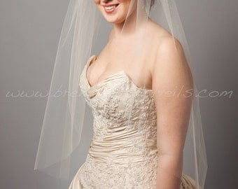 Bridal Veil Single Layer, Wedding veil, Traditional veil, Available in 30 thru 54 Inch Lengths