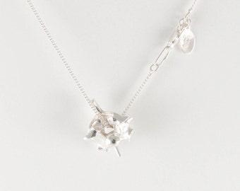 Vertebrae necklace in solid sterling silver / snake bone / back bone / anatomical / anatomically correct