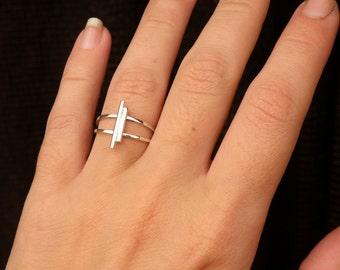Antenna Ring-sterling silver
