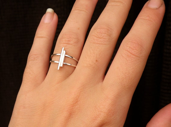 Antenna Ring-sterling silver