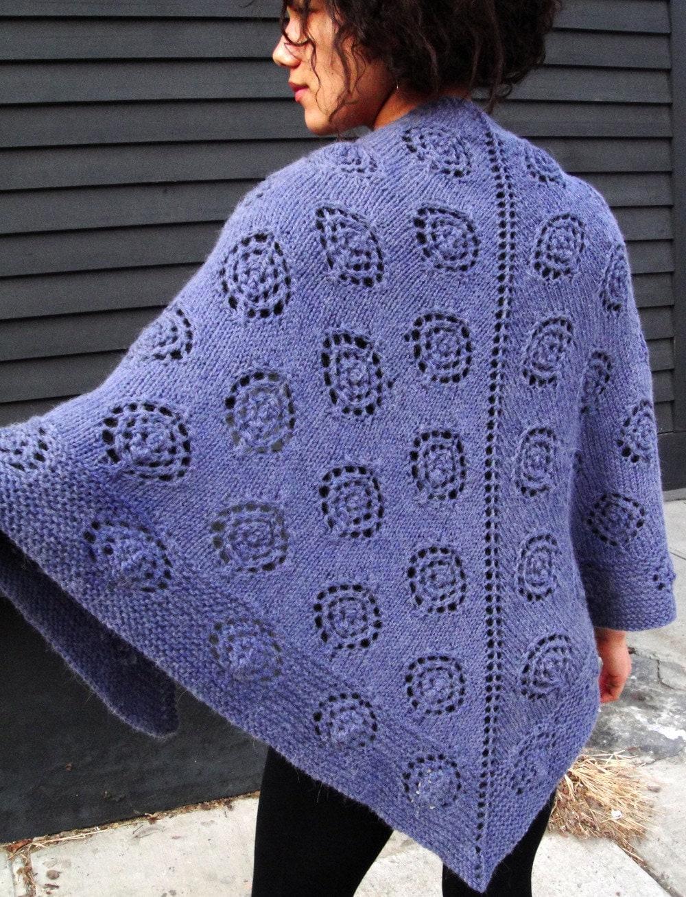 Knitted Triangle Shawl Pattern : Dotty Triangle Shawl KNITTING PATTERN DOWNLOAD