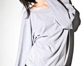 Womens Dolman Sweater  Fall Fashion Heather grey