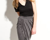 Womens Maxi Skirt High Low Jersey-  Intermix Shift Skirt