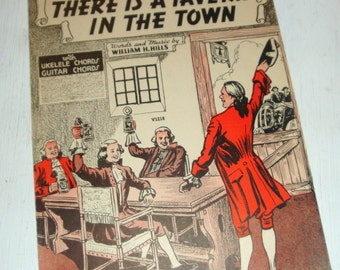 Vintage Sheet Music, There Is A Tavern In The Town, Song,  1939