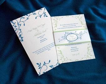 "Vines Wedding Invitation Sample - ""Melbourne"""