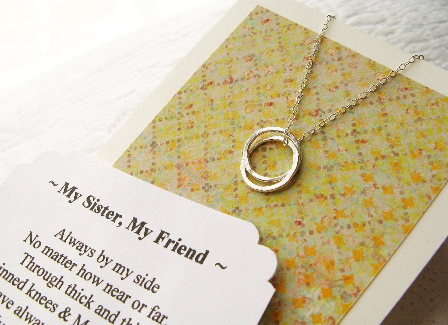 Friendship Poems Sisters 2 Sister Necklaces With Poem