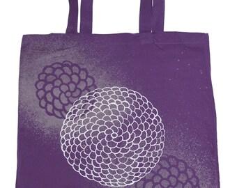 Dark Purple Chrysanthemum Tote Bag