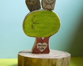 Personalized Wedding Cake Topper Owl Pair and Sweetheart Treer with Custom Colors