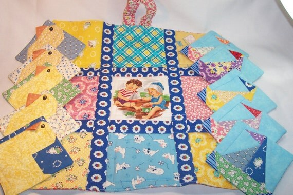AT THE SEASHORE, TicTacToe Quilted Playmat