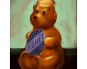 "HONEY BEAR - 4""x 6"" Postcard Print"