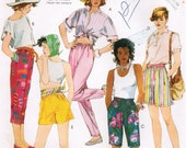 1980s McCalls 2940 UNCUT Vintage Sewing Pattern Misses Pants and Shorts Size Medium