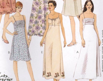 2000s McCall's 2752 UNCUT Classic Sewing Pattern Misses' Sundress Size 10 -12 - 14
