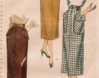 1950s Simplicity 3330 UNCUT Vintage Sewing Pattern Misses' Skirt Size Waist 28