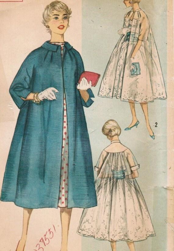 1950s Simplicity 2378 UNCUT Vintage Sewing Pattern Misses' Coat Size 12 Bust 32