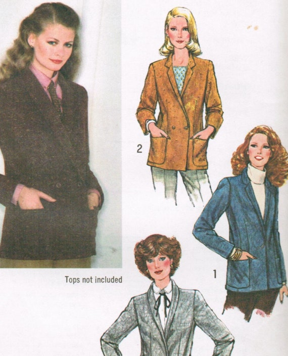 1970s Simplicity 9149 UNCUT Vintage Sewing Pattern Misses Single Breasted Blazer, Double Breasted Blazer, Jacket Size 10 Bust 32-1/2