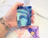 "Statue of Liberty Fine Art Original Drawing, Ready to Ship, Free Shipping,  ACEO,  ATC  ""Tribute to 9/11"""