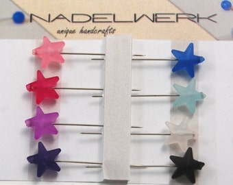 Puffy Star Sewing Pins - Set of 8