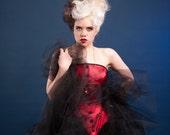 Plus Size Tulle Petticoat - Gothic Ballerina Lolita Skirt - Burlesque Boudoir - Custom to Order 2XL-5XL