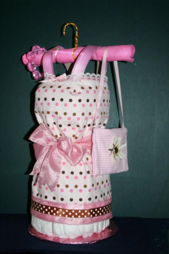 Diaper Cake Dress Instructions, Diaper Cake, Baby Dress, Diapers, Dress