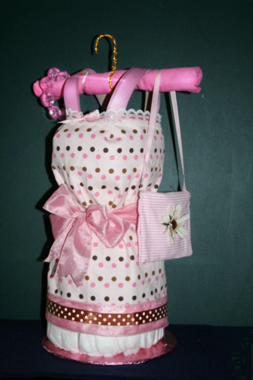 Diaper Cake Dress Instructions Diaper Cake Baby Dress