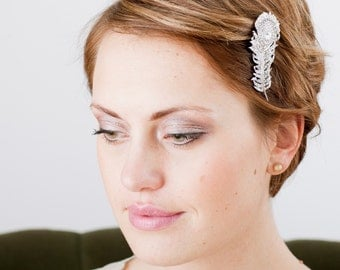 Sparkling Bird Fashion Peacock Bridal Crystal Hair Brooch
