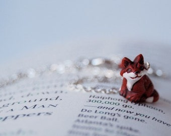 Little Red Fox Necklace | Cute Fox Charm Necklace | Woodland Forest Fox