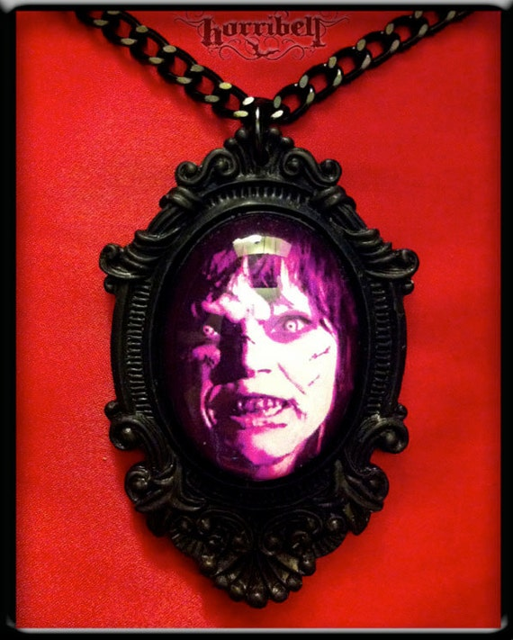 CLEARANCE The Exorcist Necklace - Linda Blair Horror Movie Necklace - Purple
