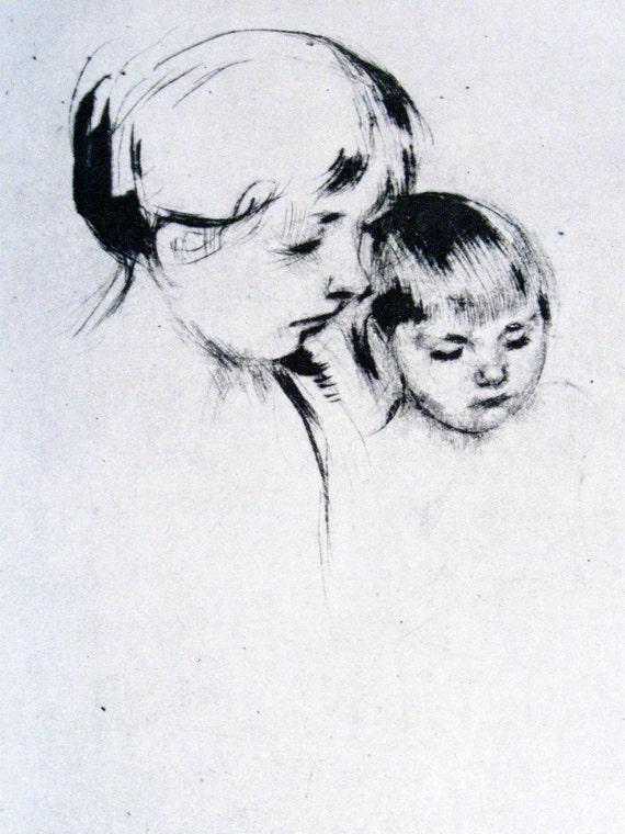 vintage Mary Cassatt Mother and Child print