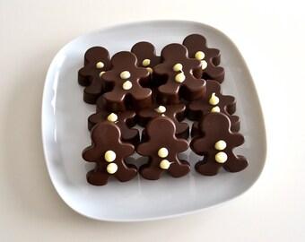 Dark Chocolate Gingerbread Men Christmas Treats - 1 Dozen