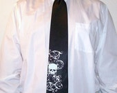 Necktie custom mens skull tie available in custom colors of your choice